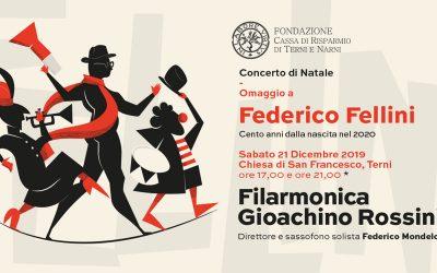 """Concerto di Natale 2019 """"Omaggio a Federico Fellini"""""""